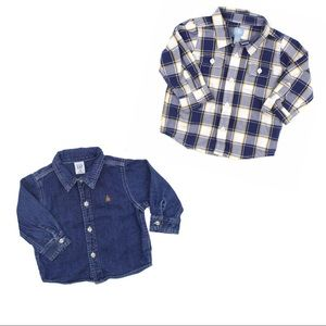 2 Gap Boys Shirts, Size 12-18 Months
